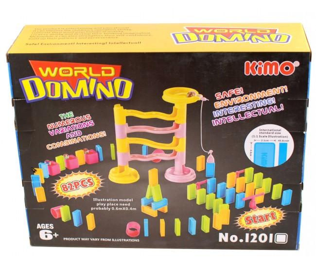 Jucarie cu 82 de piese domino pentru copii, multicolor - PET-LB332