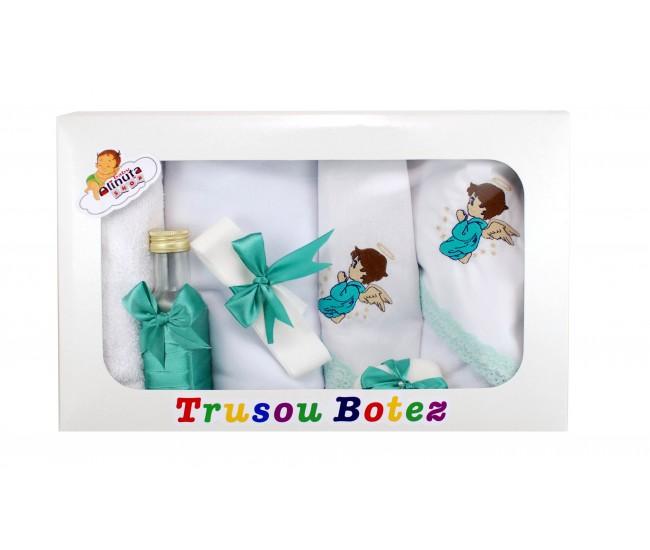 Trusou personalizat pentru botez fetite si baieti - set biserica TB21563