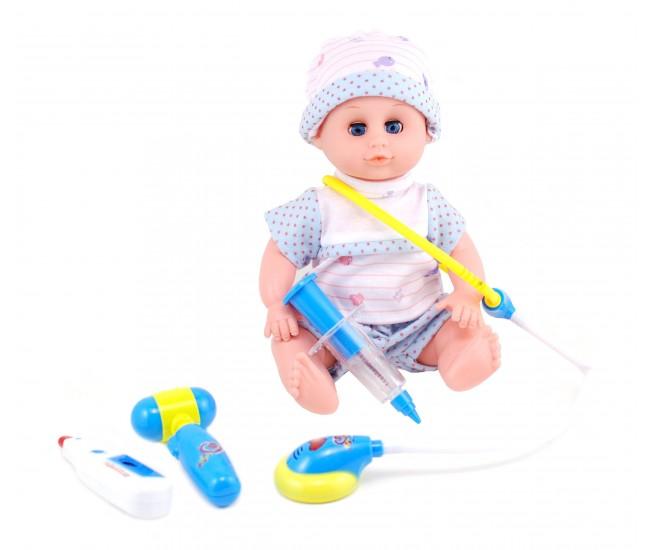 Set Doctor cu bebelus, accesorii cu sunete si lumini 66001A