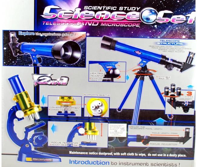 Set telescop si microscop de jucarie pentru copii - 2109