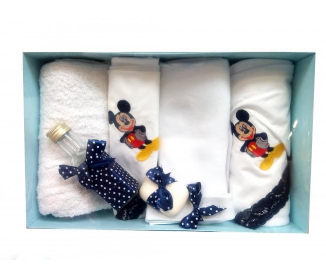 Trusou botez personalizat baieti cu Mikey Mouse - set biserica TB99152