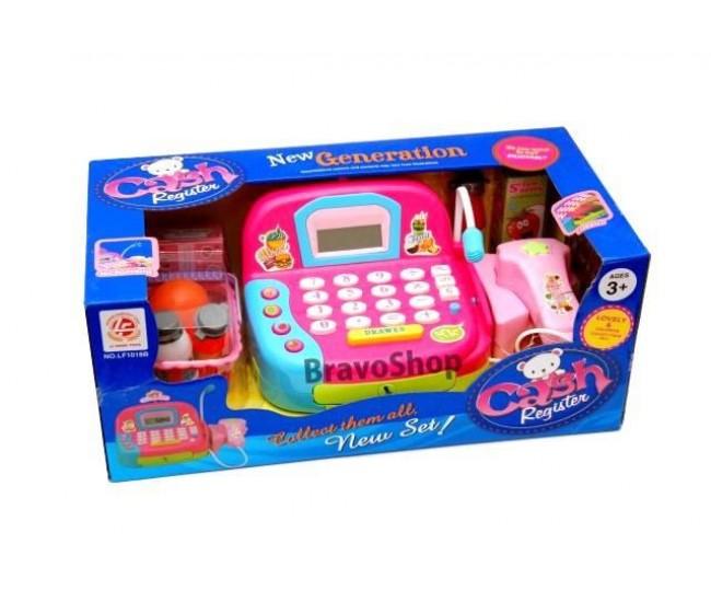 Casa de marcat de jucarie, cu microfon si multe accesorii interactive