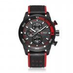 Ceas de mana barbati casual - Curren M8250 BLACK/RED