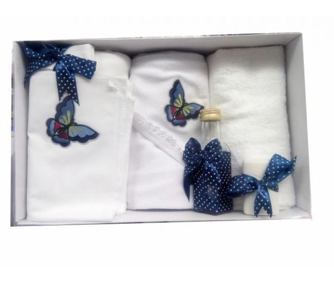 Trusou botez fetite cu fluturasi -set personalizat biserica BVSM