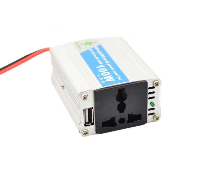Invertor auto 100W Chaomin 12V - 220V cu iesire USB 2A