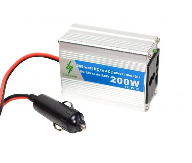 Invertor auto 200W Chaomin 12V - 220V cu iesire USB 2A