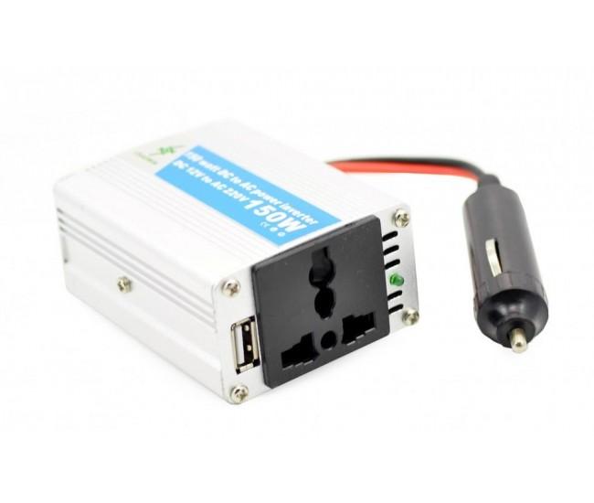 Invertor auto 150W Chaomin 12V - 220V cu iesire USB 2A