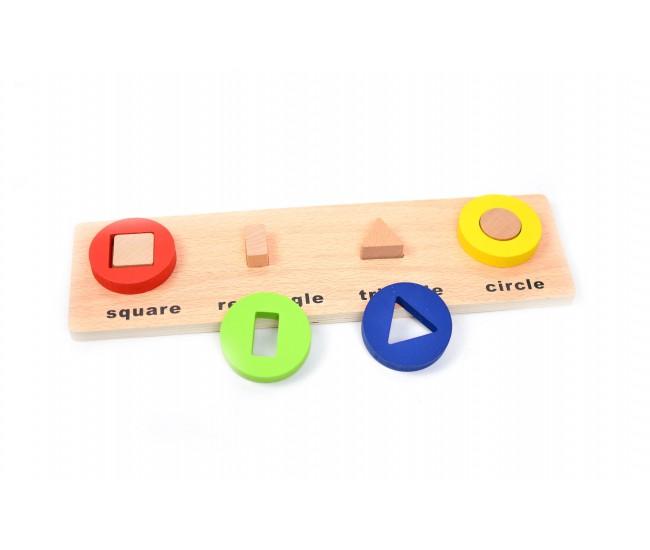 Sortator din lemn,  Jucarie educativa pentru copii cu forme geometrice - 22261472C