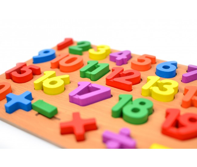 Jucarie educativa din lemn sortare cifre, 25 piese - 22200024
