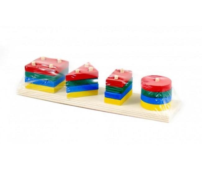 Jucarie creativa de lemn cu forme geometrice - Distractie pentru copii - D8TANLEMN