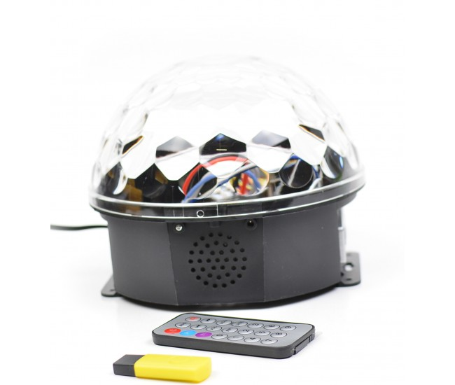 Glob de lumini cu senzor de muzica MP3 Led Magic Ball Light- MP3LMB