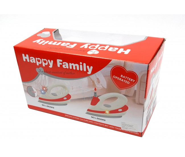 Fier de calcat pentru copii, jucarie cu sunete si luminite, Happy Family - LS820K8