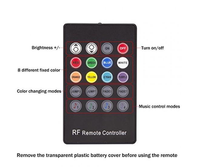 Lumina ambientala auto, tuning masina, cu LED-uri color, telecomanda si senzor de muzica - IRI01WOW