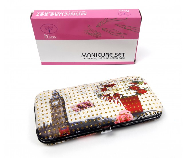 Trusa profesionala manichiura Lila Rossa, 9 piese, model 15-7XX