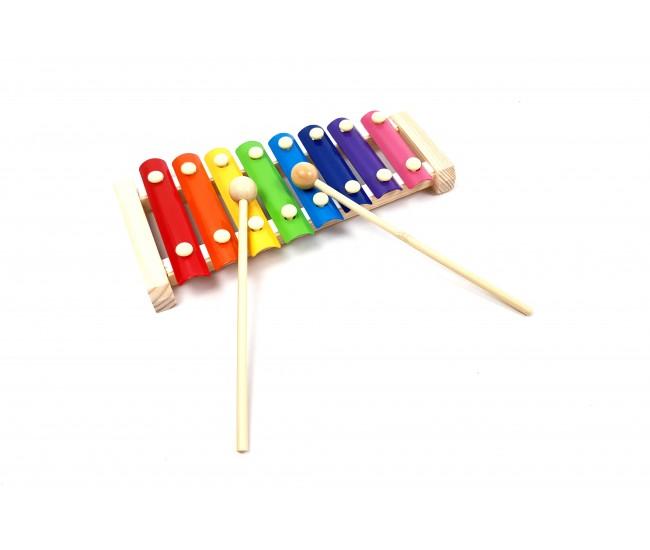 Jucarie Xilofon din lemn - Distractie pentru copilul tau!
