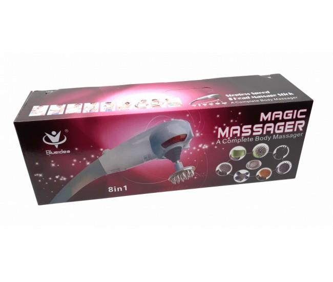 Aparat de masaj cu 8 capete pentru diferite tipuri de masaj Blueidea BLD999