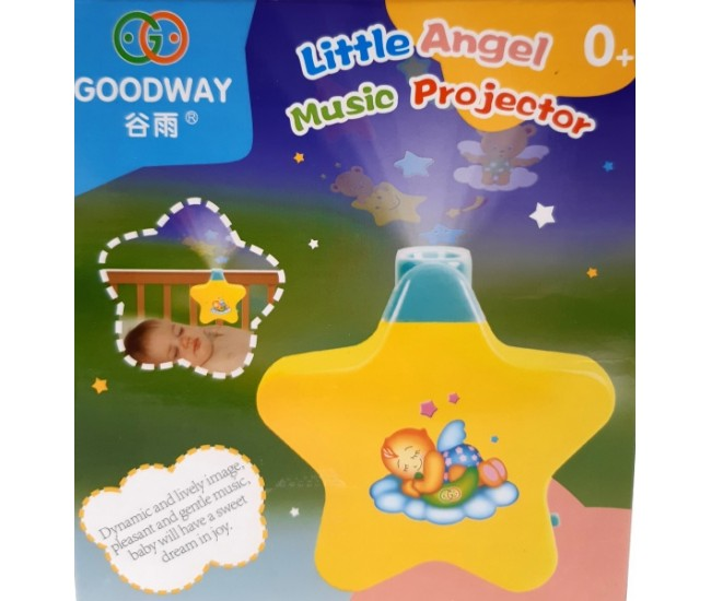 Steluta, lampa cu proiectie de lumini si melodii -  Little Angels Proiector