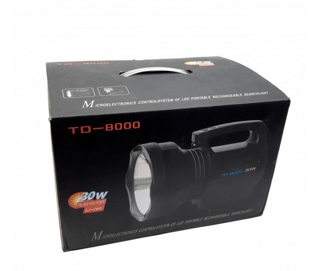 Lanterna profesionala cu acumulator Li-ion 30W - TD8000