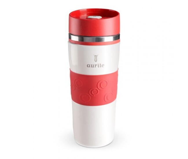 Cana termica, termos 380 ml - White & Green AURILE Thermal Mug