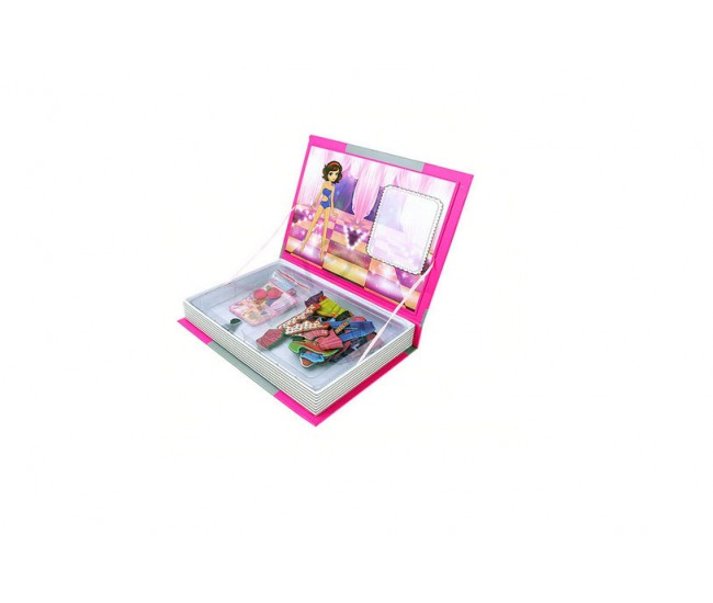 Joc educativ - Carte magnetica cu piese puzzle Princess Dress Up