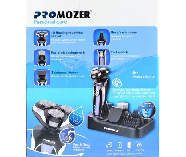 Produs resigilat Set aparat de ras Promozer MZ2026, lame ConfortCutBlade 4D, umed si uscat, Digital Display, accesoriu tuns, Negru
