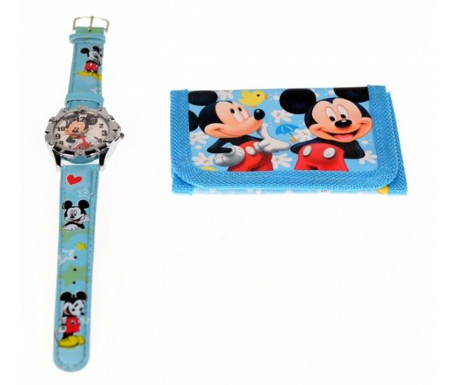 Set ceas pentru copii cu Mickey Mouse + portofel cadou - COCO6630