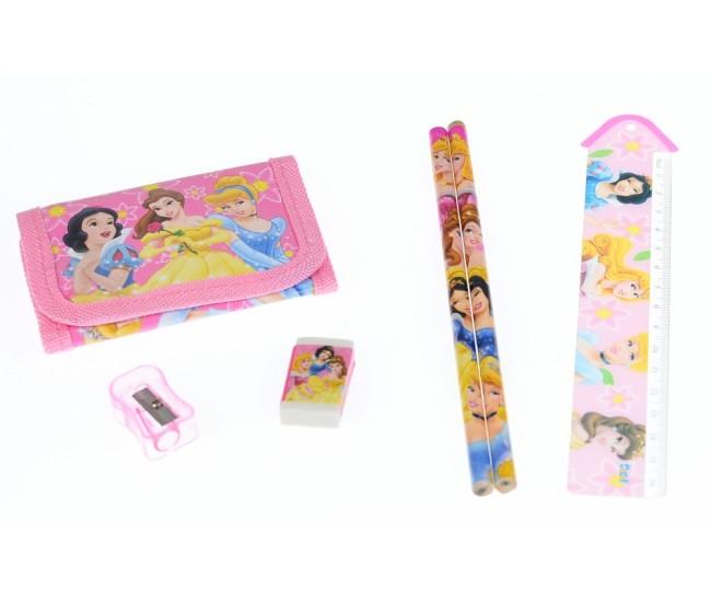 Set ceas pentru copii cu printese + portofel, creioane, ascutitoare si guma - COCO8011607