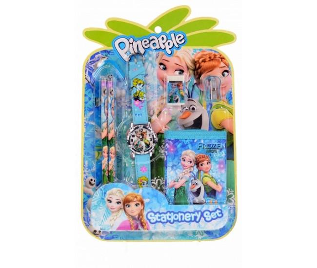 Set ceas pentru copii cu Elsa si Ana + portofel cadou - COCO8011646