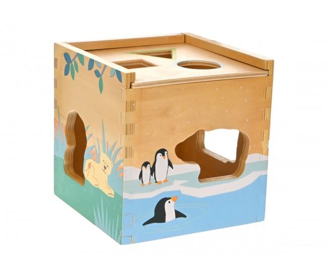 Cutie Inteligenta Din Lemn, cu animale salbatice, Intelligence Box -22200149