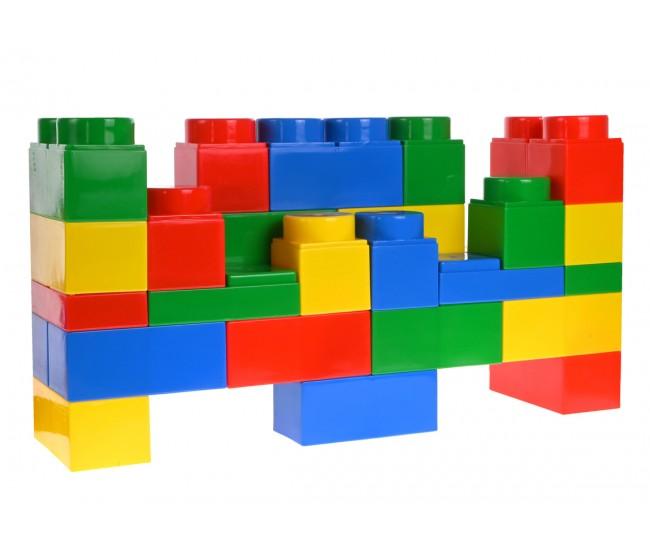 Set Cuburi de constructi cu abtibilduri, pentru copii, 32 piese - HC031C