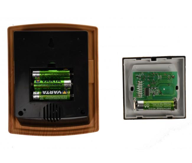 Sonerie Wireless cu lumini si baterii, 150 m,  LUCKARM - 3902LD
