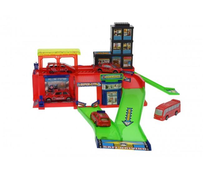 Set masinute, garaj si parcare , pompieri si accesorii - 283-18