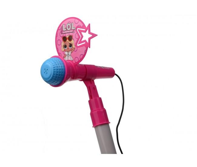 Microfon de jucarie cu lumini, amplificator voce si mufa pentru conectare la telefon - 668811