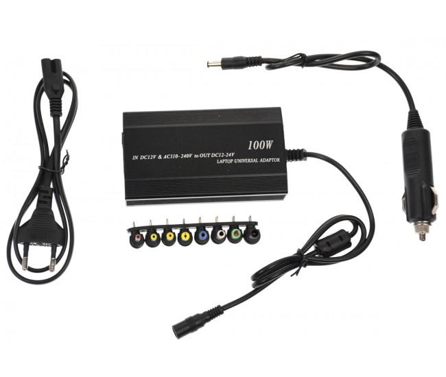 Incarcator universal laptop pentru auto si priza - 8 conectori si USB