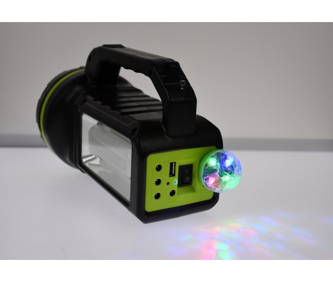 Lanterna dubla LED 10W, cu boxa bluetooth, radio, MP3, USB, lumini auxiliare, reincarcabila, 9000mAh, CL707