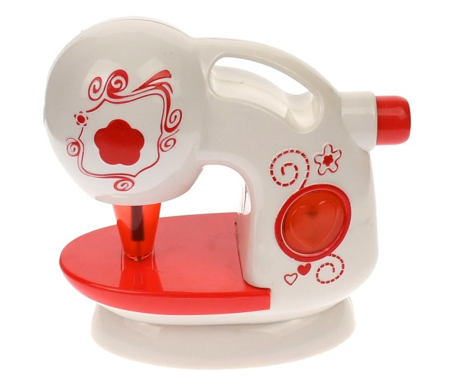 Masina de cusut de jucarie cu sunete si luminite, rosu - 88031