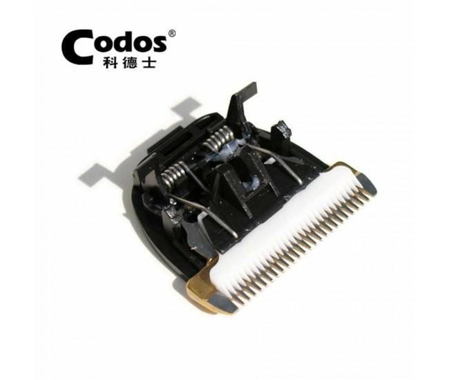 Masina de tuns profesionala cu LED si stand de incarcare Codos - Lama cu invelis din titan si cutit ceramic COS-916