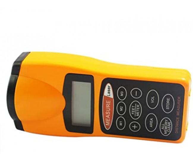 Telemetru cu laser, 50 cm - 18 m, acuratete ± 1 cm, galben/negru