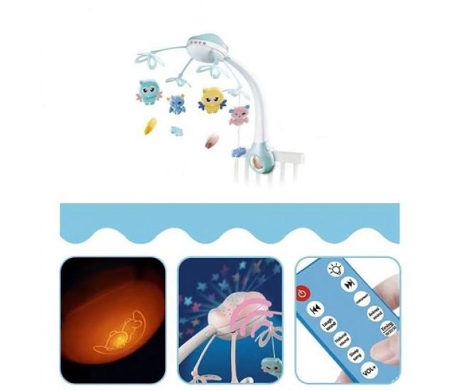 Carusel muzical de jucarie pentru bebelus, proiector de lumini si muzica - 9936