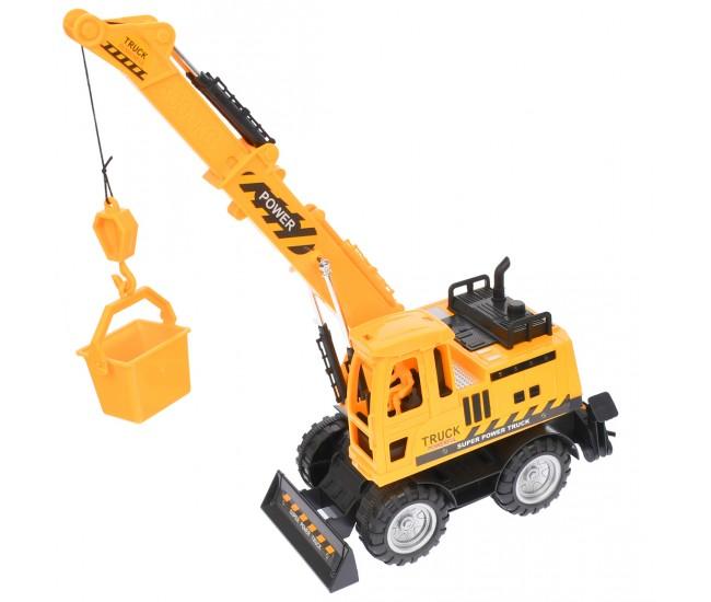 Macara de jucarie pentru constructii cu telecomanda, rotire la 360 de grade, 35 cm - 68985