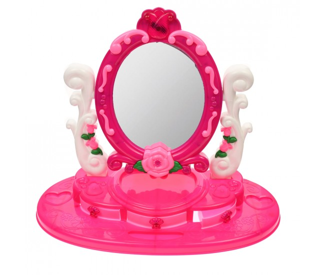 Set salon de frumusete cu oglinda 11 accesorii, sunete si luminite - 66123