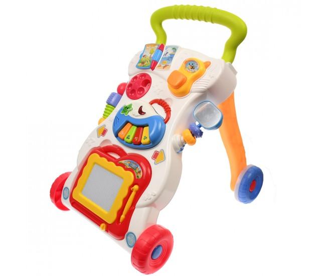 Set Troler cu jucarii muzicale pentru bebelusi - HE0801