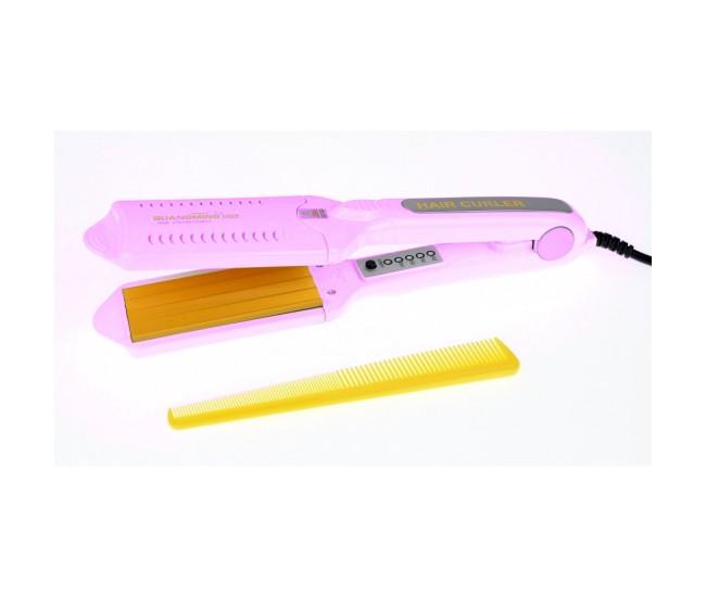 Placa profesionala de creponat si intins parul, multifunctionala, 5 in 1, roz, GU1059R