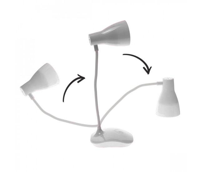 Lampa birou reincarcabila USB, pozitie lexibila, 300 lm - 6522A