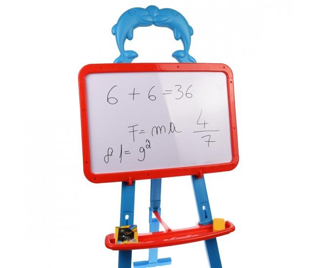 Tabla de jucarie magnetica, cu fata dubla pentru marker, creta -  8003T