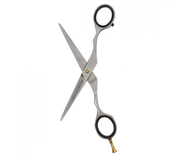 Foarfeca de tuns parul Lila Rossa, marime 5.5, pentru frizerie coafor salon - C1-55