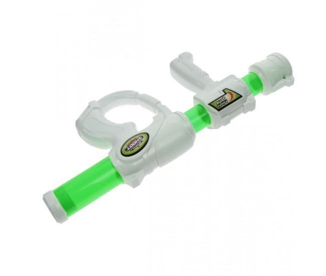 Pusca de jucarie, cu presiune, cu bile din spuma, verde - 8584V