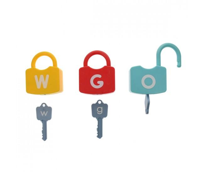 Set lacate de jucarie pentru invatat alfabetul, 52 de accesorii - 3315024