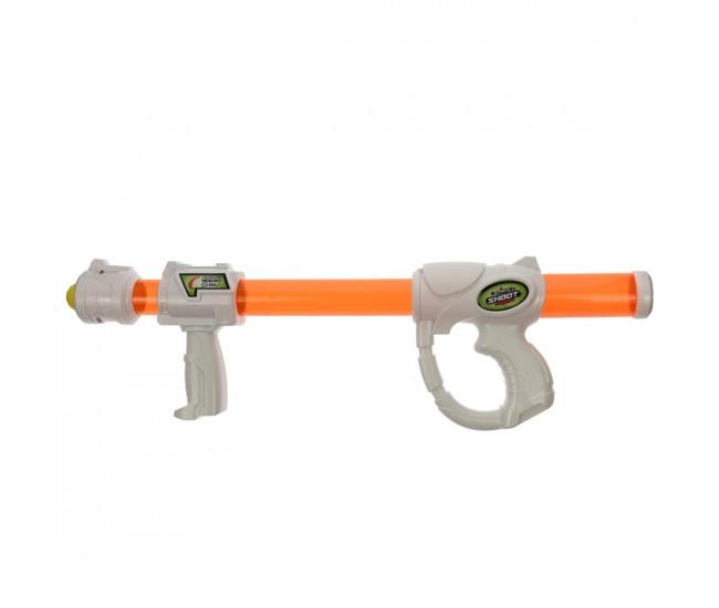 Pusca de jucarie, cu presiune, cu bile din spuma, portocaliu - 8584P