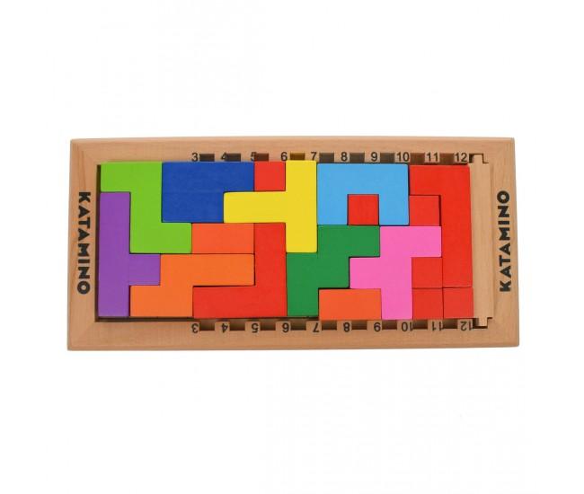 Set cuburi de construit din lemn, 19 de accesorii - 3315055